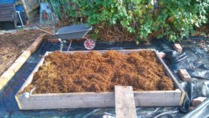 filling a raised bed picture